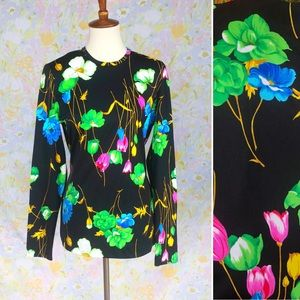 True Vintage🌸60s Electric Daisy Long Sleeve Top